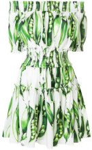 Dolce & Gabbana - Vestito con spalle scoperte - women - Cotton/Spandex/Elastane - 42 - GREEN