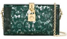 Dolce & Gabbana - Clutch 'Dolce' - women - Plexiglass/metal/Leather - OS - GREEN