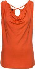 Top con scollo a cascata e schiena scoperta (Arancione) - BODYFLIRT