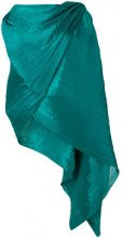Pleats Please By Issey Miyake - Cappa drappeggiata - women - Polyester - OS - GREEN