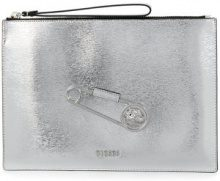 Versus - Borsa Clutch - women - Calf Leather - One Size - GREY