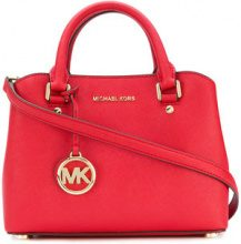 Michael Michael Kors - Savannah small satchel bag - women - Calf Leather - One Size - RED