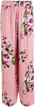 VILA Loose Fit, Flower Patterned Trousers Women Pink