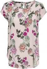 ONLY Flower Printed Short Sleeved Top Women Pink