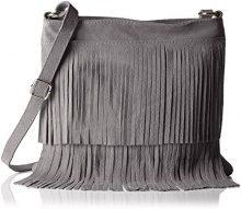 Bags4LessTipsi - Borsa a tracolla Donna , Grigio (Grigio (Hellgrau)), 10x30x30 cm (B x H x T)