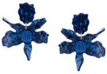 Lele Sadoughi - Crystal lily earrings - women - Metal (Other) - OS - BLUE