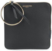 - Sara Battaglia - embossed logo clutch bag - women - pelle di vitello - Taglia Unica - di colore nero