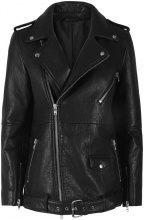 Y.A.S Biker Leather Jacket Women Black