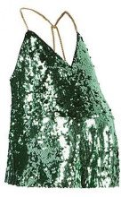 Maternity Polly Sequin Swing Cami Vest Top