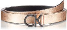 Calvin Klein Ck Skinny Waistbelt, Cintura Donna, Rosa (Grey Chrome Rose), 80