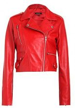 Paige Crop Leather Jacket
