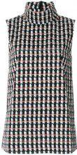 Marni - Top 'Ripple' a collo alto - women - Cotton - 40 - MULTICOLOUR