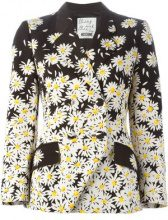 Moschino Vintage - daisy print jacket - women - Cotton/Rayon/Acetate - 42 - BLACK