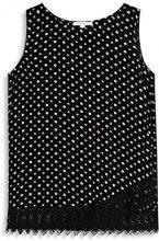 ESPRIT 077ee1f013, Camicia Donna, Multicolore (Black 001), 38