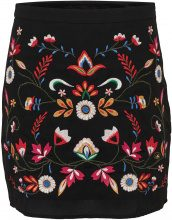 ONLY Embroidery Skirt Women Black