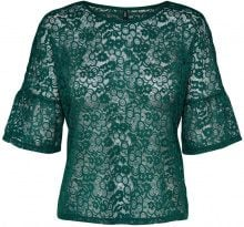 ONLY Lace 2/4 Sleeved Blouse Women Green