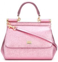 Dolce & Gabbana - mini Sicily tote - women - Leather - OS - PINK & PURPLE