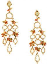 Gas Bijoux - Orecchini 'Belinda' - women - glass/24kt Gold Plate - OS - METALLIC