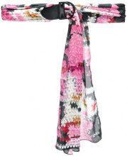 Ermanno Scervino - Cintura con design color-block - women - Silk/Leather - OS - PINK & PURPLE