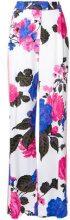 MSGM - Pantaloni con stampa floreale - women - Viscose - 42 - PINK & PURPLE