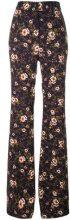 Rochas - floral print trousers - women - Silk/Spandex/Elastane/Viscose - 42 - PINK & PURPLE