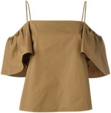 Fendi - Blusa - women - Cotton - 42 - GREEN