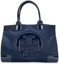 Tory Burch - Borsa tote 'Ella' - women - Polyester/Patent Leather - OS - BLUE