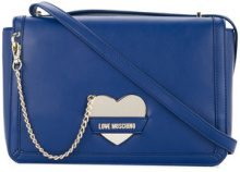 Love Moschino - chain-detail crossbody bag - women - Polyurethane - One Size - BLUE