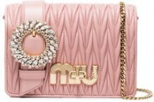 Miu Miu - Borsa tracolla - women - Leather - One Size - PINK & PURPLE