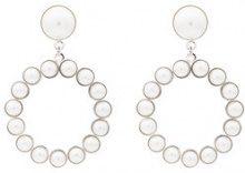 - Alessandra Rich - Orecchini clip - women - perle/ottone - Taglia Unica - di colore bianco