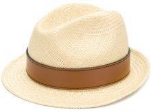 Miu Miu - Cappello con fascia - women - Nylon/Straw - S, M - NUDE & NEUTRALS