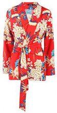 Elsa Premium Floral Print Belted Blazer