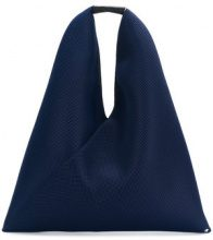 Mm6 Maison Margiela - perforated slouchy tote - women - Polyester/Calf Leather - One Size - BLUE