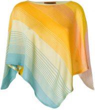Missoni - colour-block draped top - women - Cotton/Viscose - OS - YELLOW & ORANGE