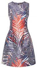 APART Fashion Maritime Time RED-Salmon-Jeansblue & Stripes, Vestito Donna, Mehrfarbig (Navy-Multicolor), 38