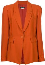 Giorgio Armani Vintage - structured blazer - women - Silk/Cupro/Viscose - 42 - YELLOW & ORANGE