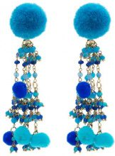Rosantica - Orecchini 'Alchimia' - women - Brass/quartz/Acrylic - OS - BLUE