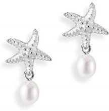 Drachenfels Design–Orecchini per donna neptuns Garden argento perla d' acqua dolce perla coltivata Bianco–D PSG 21–3/AG