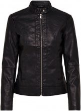 ONLY Biker Faux Leather Jacket Women Black