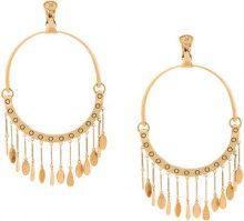 Chloé - raccoon pom pom earrings - women - Brass - OS - BROWN