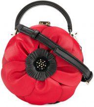 Kate Spade - floral shoulder bag - women - Calf Leather/Lamb Skin/Polyurethane/Polyester - OS - BLACK
