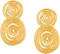 Gas Bijoux - Orecchini 'Wave' - women - 24kt Gold Plate - One Size - METALLIC