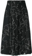 Carven - Gonna plissettata - women - Polyester/Acetate/Viscose - 38 - BLACK