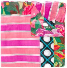 Twin-Set - Sciarpa a fiori - women - Cotton - OS - PINK & PURPLE