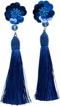 PIECES Tassel Earrings Women Blue