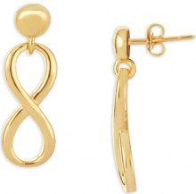 Orecchini Fashionvictime  Orecchini Infinito Donna  - Gioiello Placcato Oro