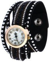 Orologio da polso a bracciale con rivetti