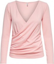 ONLY Wrap Long Sleeved Top Women Pink