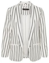 VERO MODA Striped Blazer Women White
