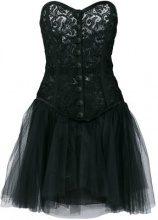 Yves Saint Laurent Vintage - lace corset party dress - women - Silk/Cotton - 42 - BLACK